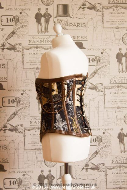 Hand Crafted Steel Boned Steampunk Corset 2