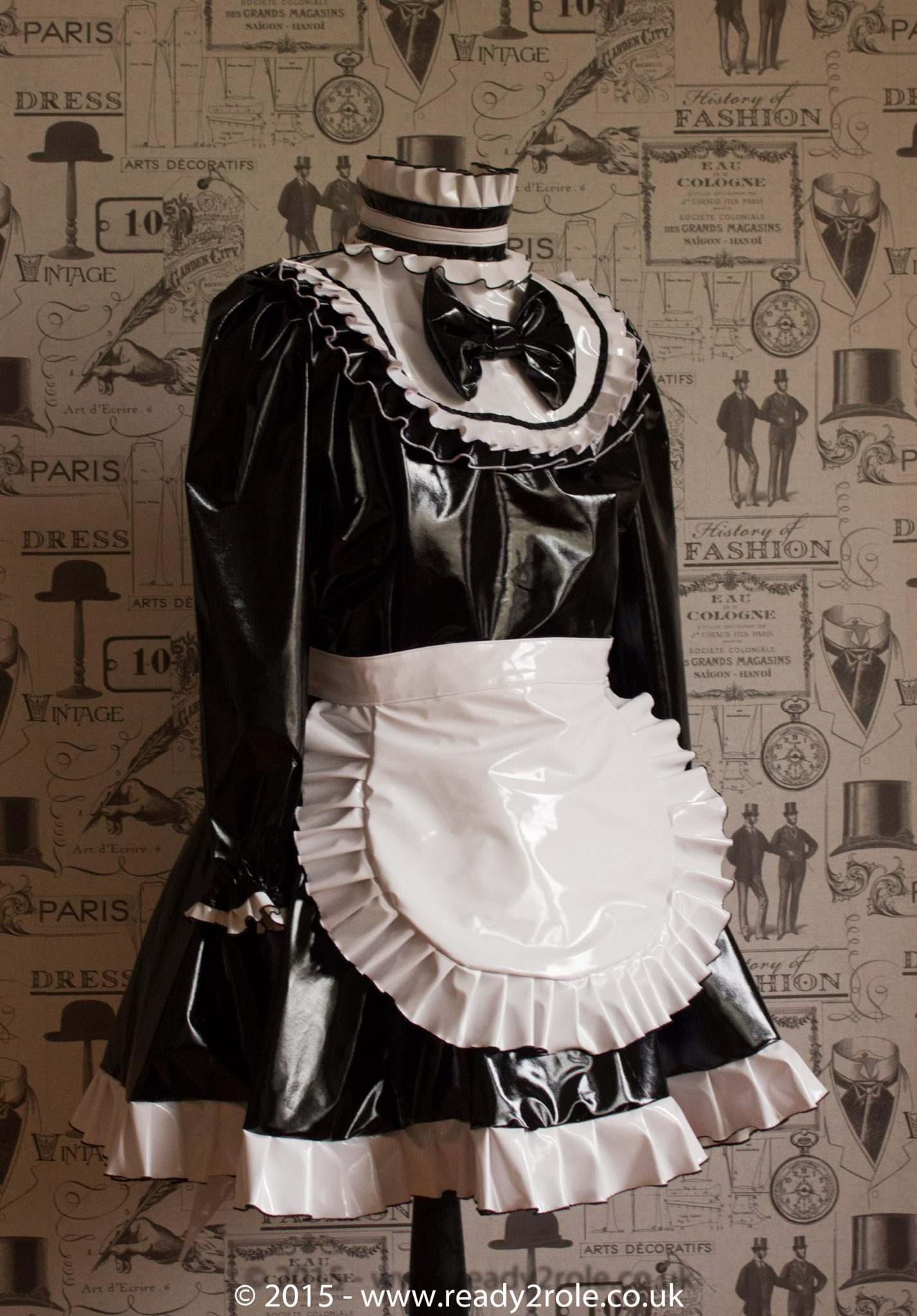 "The ""Lucy Locket"" Lockable PVC Sissy Dress"