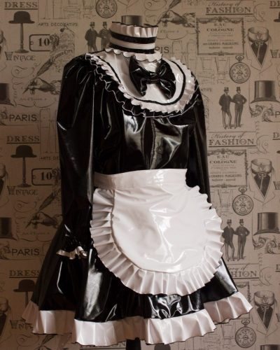 """The """"Lucy Locket"""" Sissy Lockable PVC Dress – Ask About Colour Choices – Hand Made to Any Size 1"""