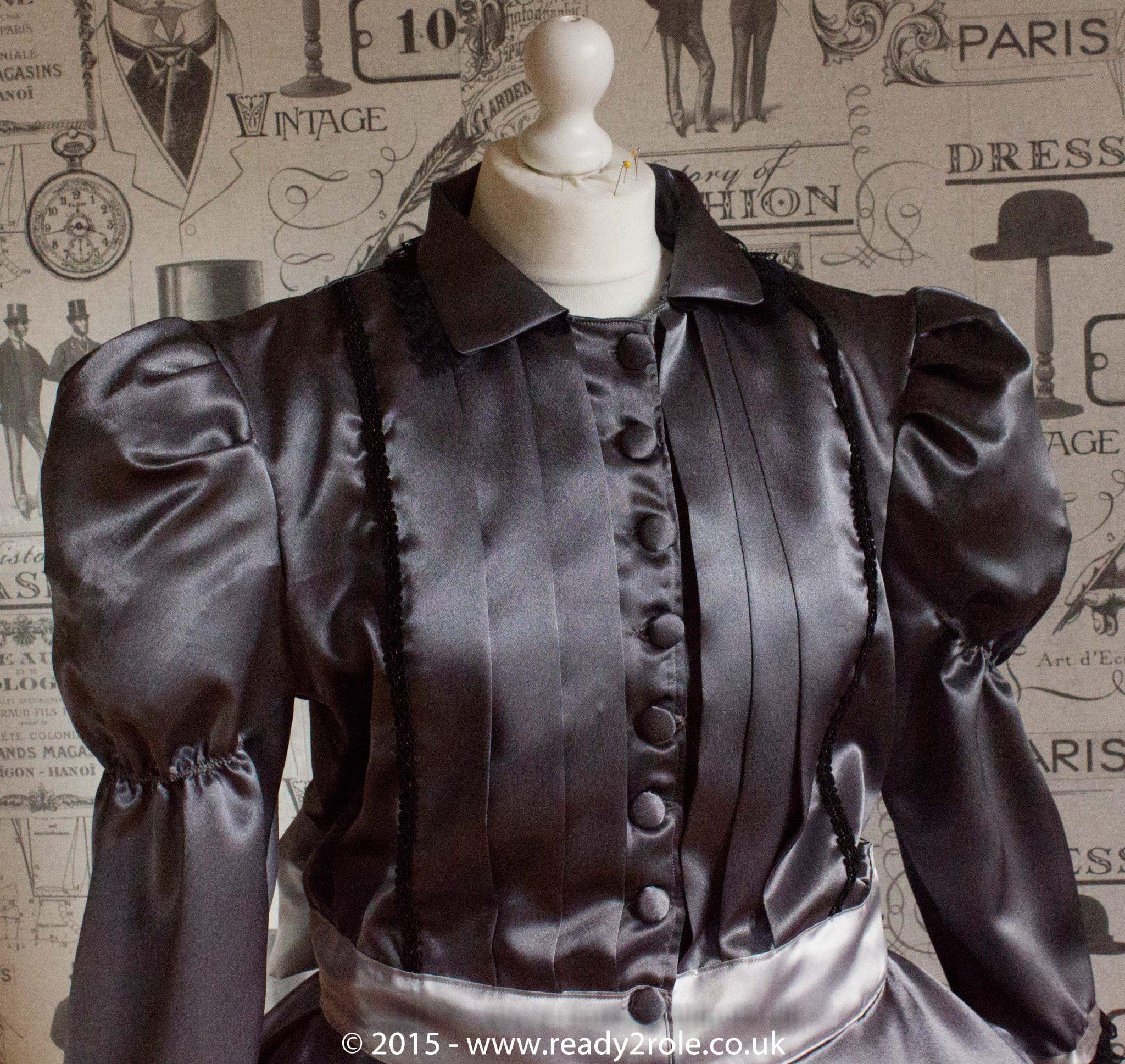 Victoria – Sissy Satin Long Sleeved Dress