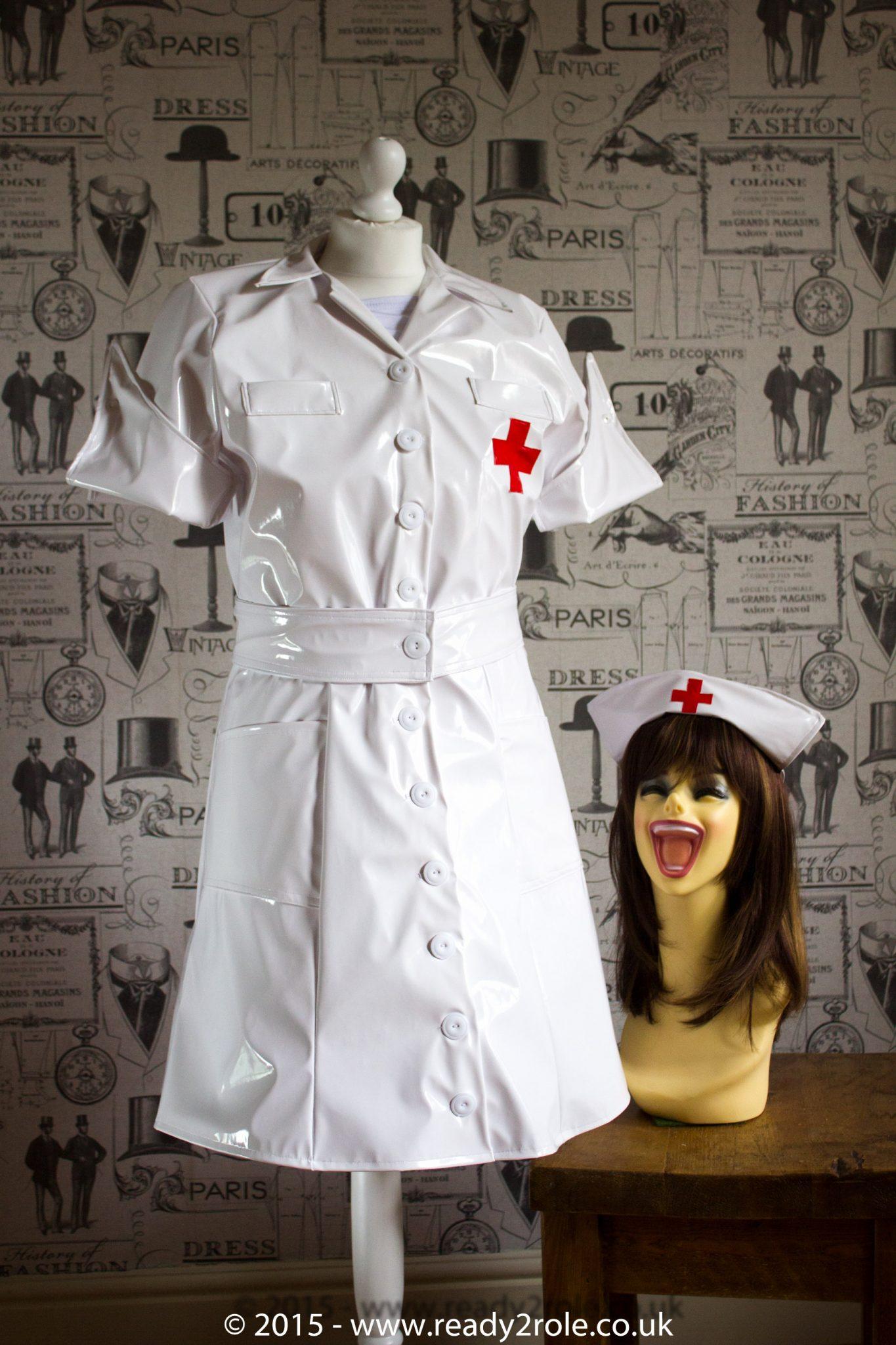 PVC Vintage Nurse Dress
