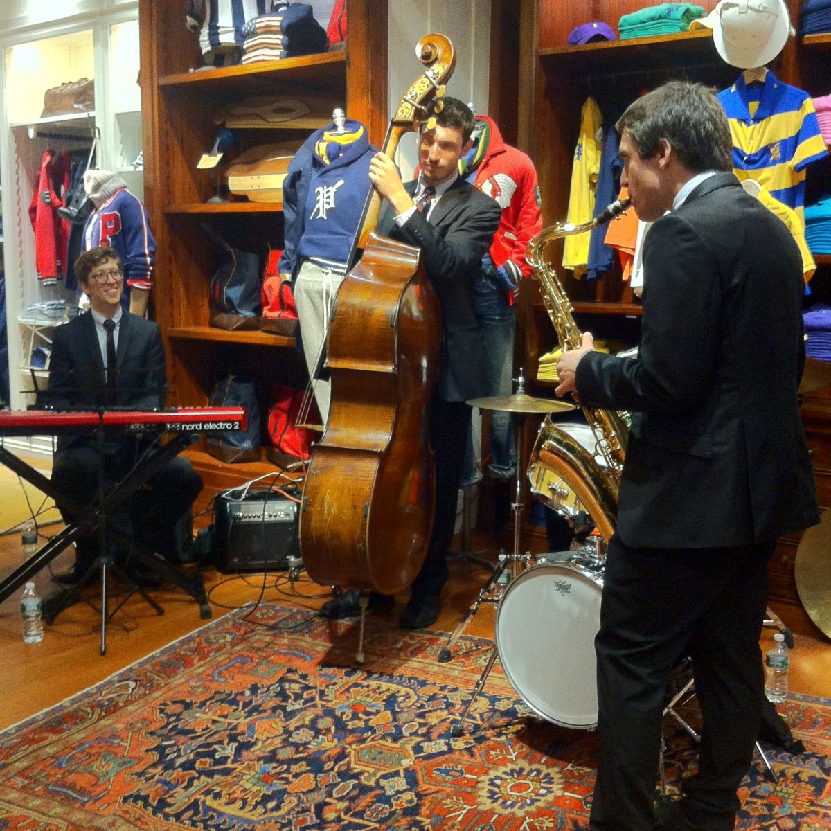live jazz band, ralph lauren polo, rowing blazers, rowing