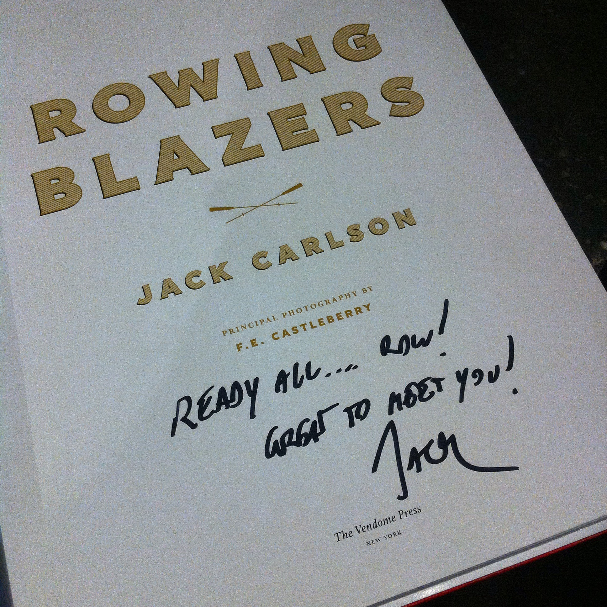 rowing blazers, ready all row, rowing, jack carlson