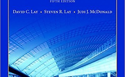 Linear Algebra And Its Applications 5th Edition Pdf Ready For Ai