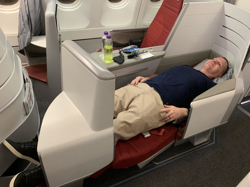 Hong Kong Airlines A330 Business Class Seats Lay Flat