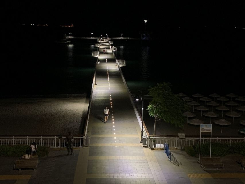 Burgas Pier at night