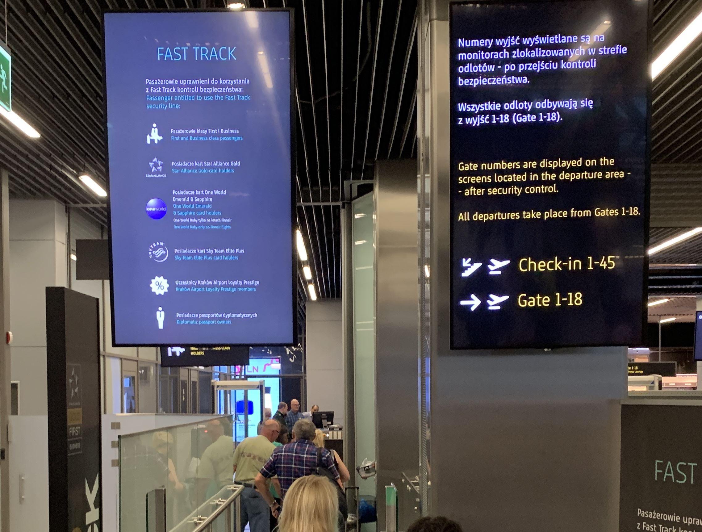 Krakow Airport Fast Track