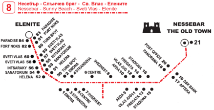 Nessebar Bulgaria bus map