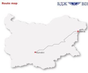 Bulgarian train from varna to plovdiv