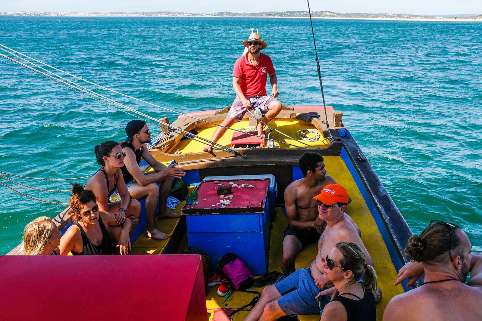 Camper retreat Digital Nomad Campervan Portugal Caravan Retreat Boat Ride