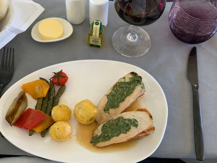 Air Italy Business Class Meal