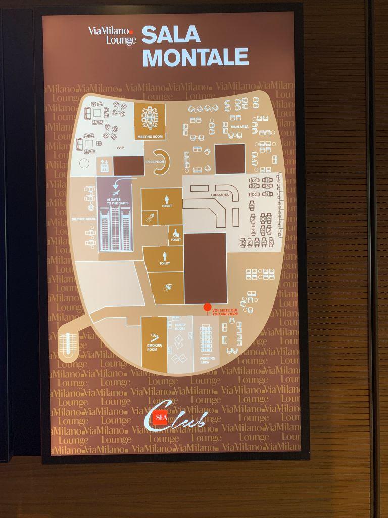 Priority Pass Lounge Malpensa Airport Terminal 1 Sala Montale Layout