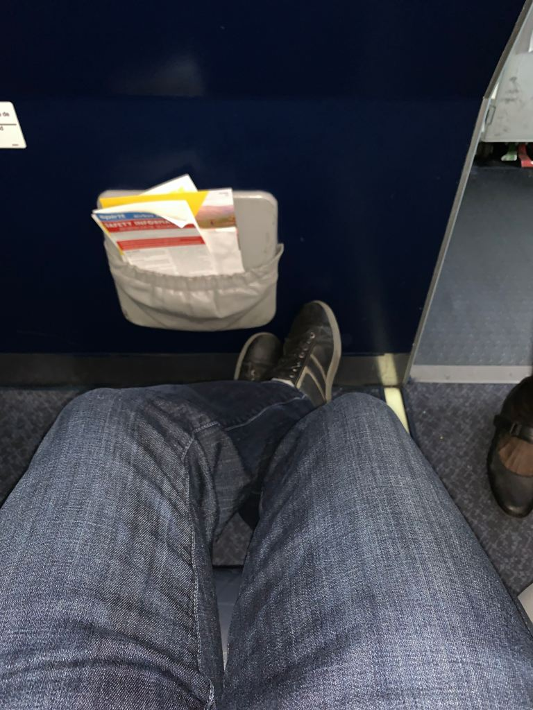spirit big front seat legroom
