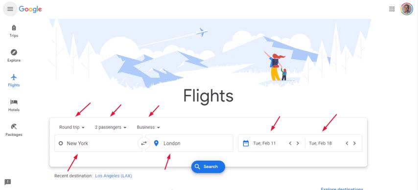 Basic Flight Search
