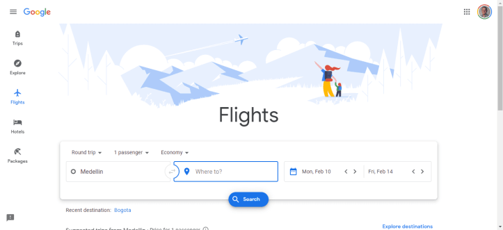 Google Flights to Find Cheap Business Class Homepage