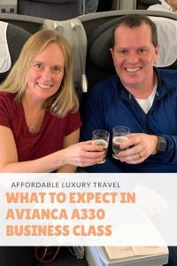 What to expect in Avianca A330 Business Class