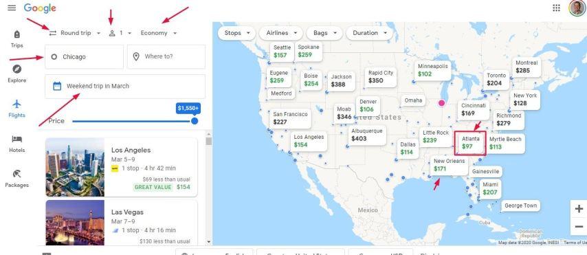 Cheap economy tickets