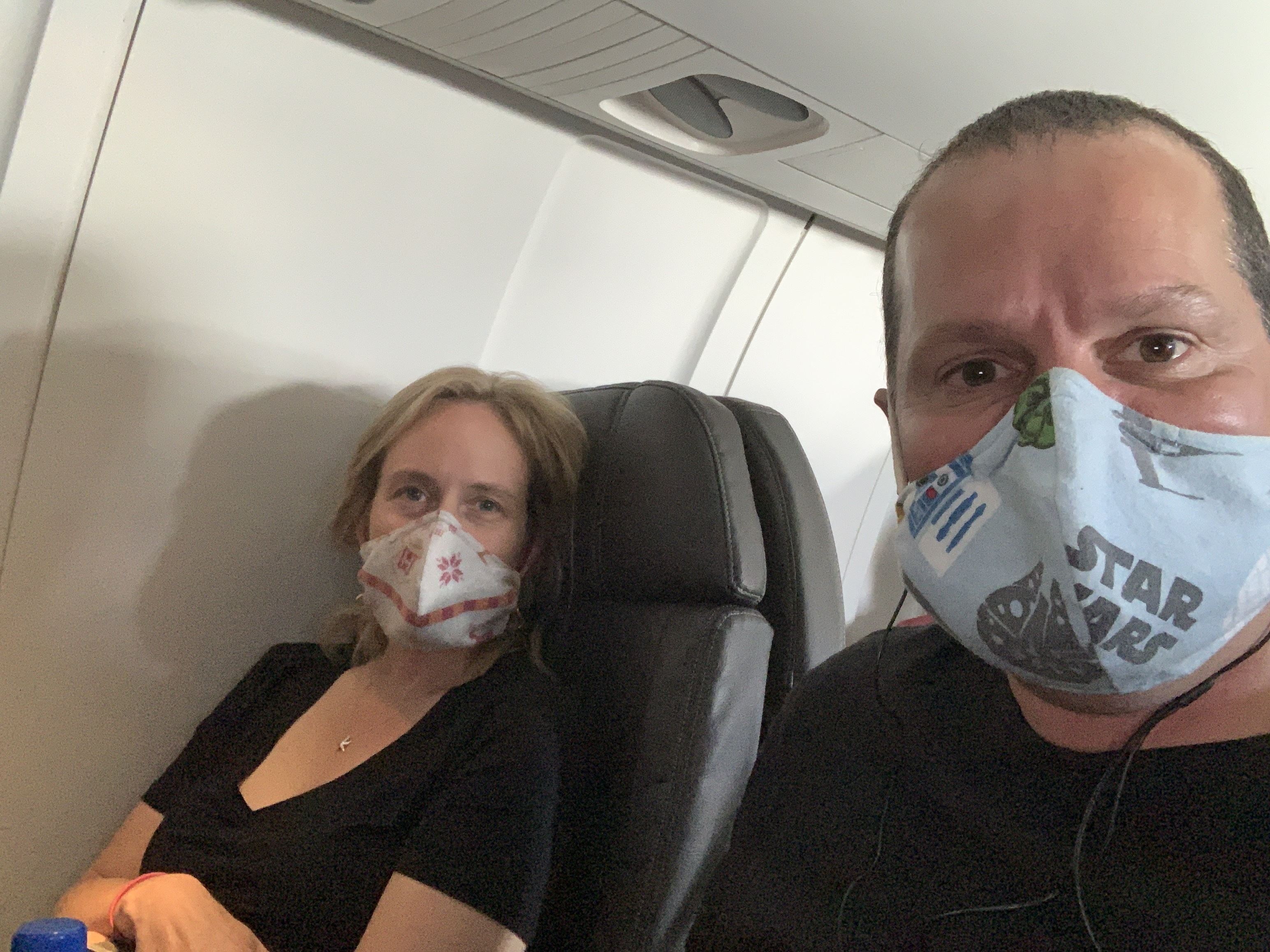 Wearing masks while flying during COVID