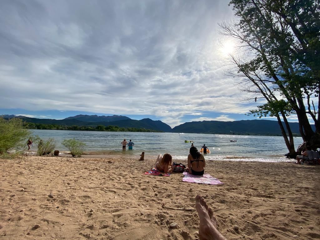 Pineview reservoir beach