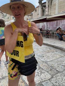 Expensive Walking Tour Lady