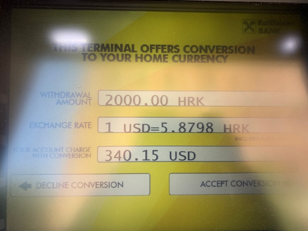 'No-Fee' Foreign ATM Exchange