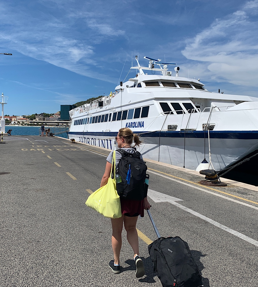 Croatia fast ferry Split to Hvar