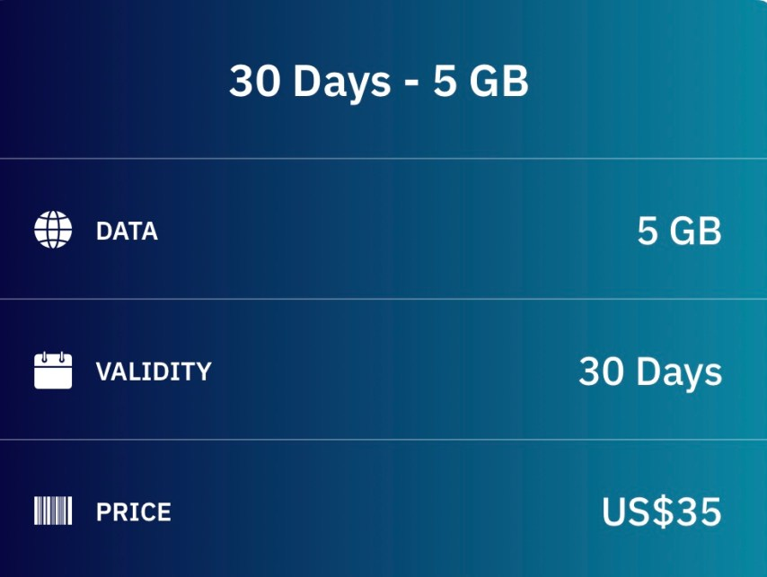 Airalo 30 Day Global eSIM Data Package