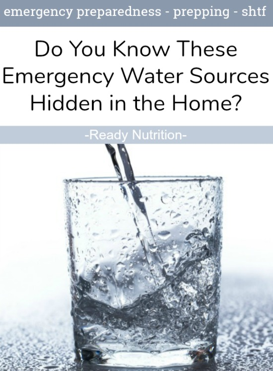 When water is unavailable, we must tap into other sources for emergency use. According to FEMA, there are sources in the home that you can access for emergency water.