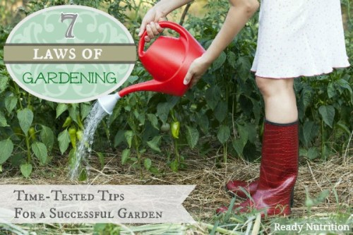 7 laws of gardening