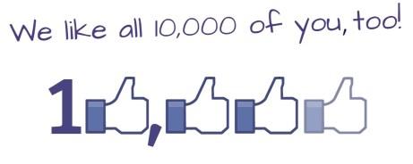 10000 FB likes