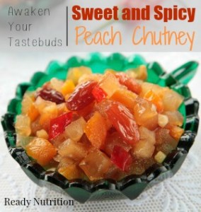 Many are trying to find healthier options to use instead of fattening condiments. This spicy peach chutney is a delicious alternative and will add some zip to your meals. #ReadyNutrition