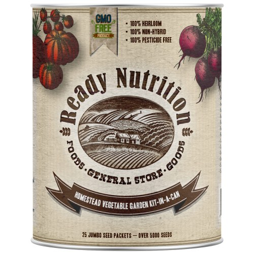Ready Nutrition Vegetable Garden Kit In A Can