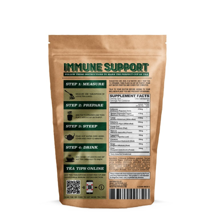 Ready Nutrition™ Immune Support Loose Tea Blend for Cold and Flu Season