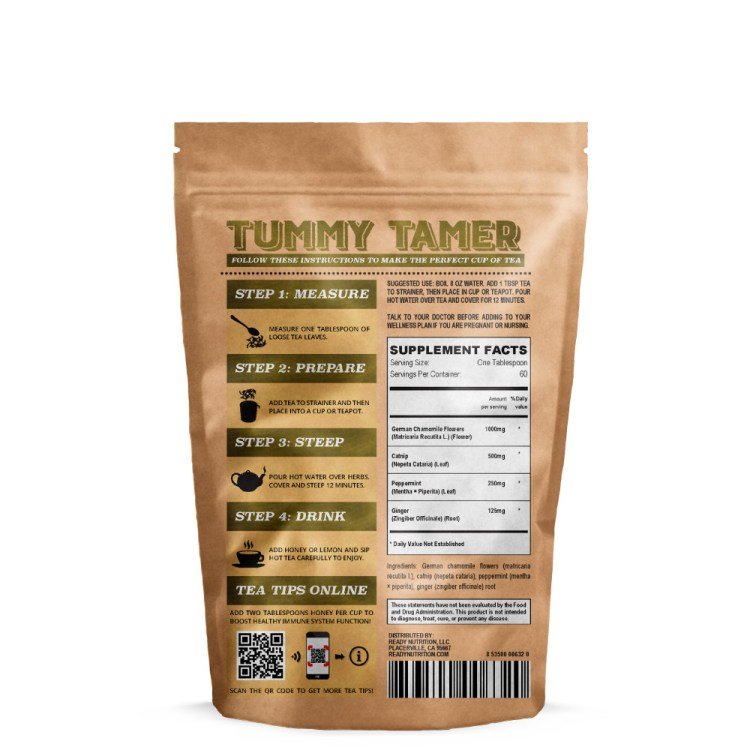 Ready Nutrition™ Tummy Tamer Loose Tea Blend for Nausea and Upset Stomach