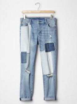 I saw this patchwork denim in stores and didn't buy it. Now Song of Style is wearing them everywhere and I am full of regret... until I figure out how to secretly ship them to me without C finding out.