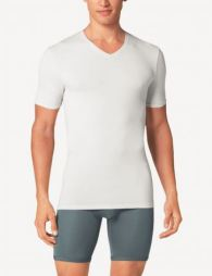 Who doesn't love a guy in a plain white T? This undershirt will provide you comfort under dress shirts on a warm Spring morning, or when lounging around.
