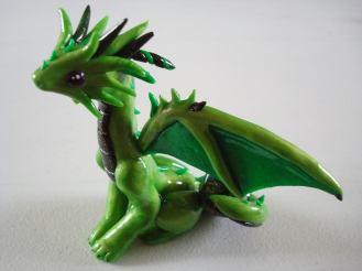 Acid dragon, polymer clay, 2014.