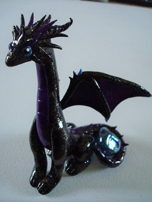 Dark dragon, polymer clay, 2014.