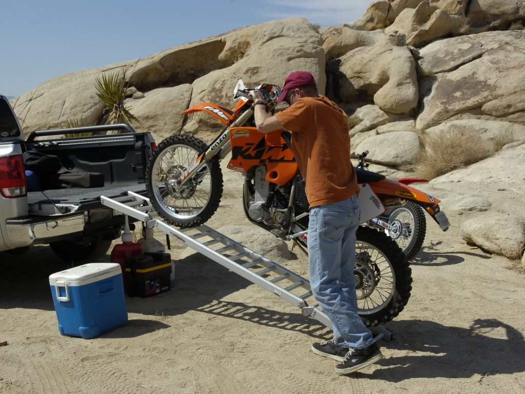 Loading a Dirt Bike