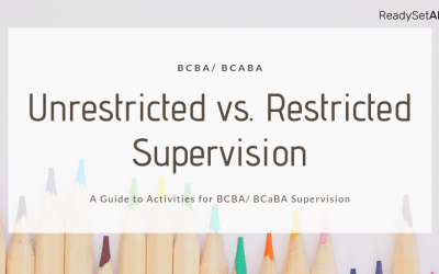 Supervision Hours: Whats the Difference Between Unrestricted & Restricted Activities