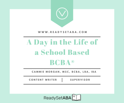 A Day in the Life of a School Based BCBA®