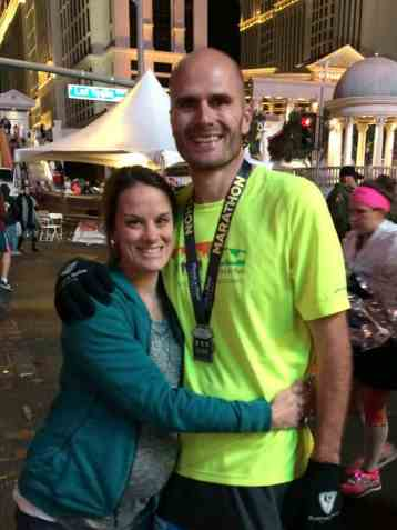 My husband came back to finish a marathon after a DNF
