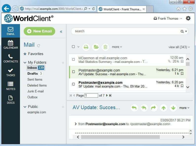MDaemon WorldClient Web Based Email Client GUI WorldClient Theme