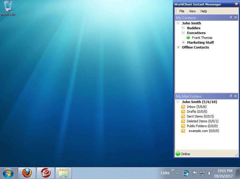 WorldClient Instant Messenger - Buddy List Grouping