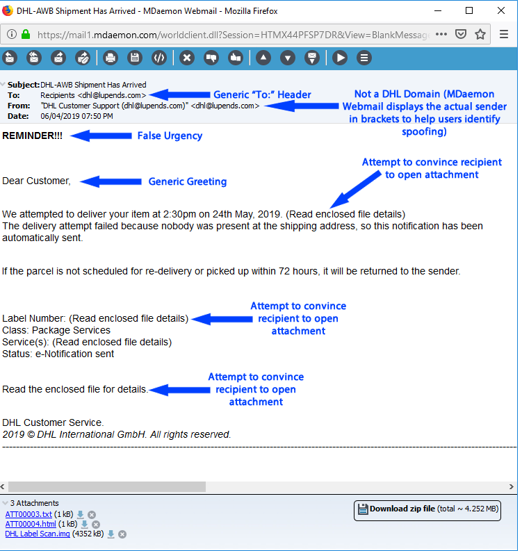 Phishing Example and What to Look For