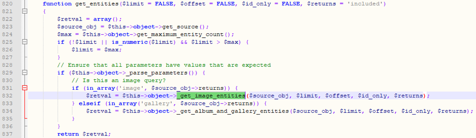 Figure 8: get_entities call a corresponding function based on a return request.
