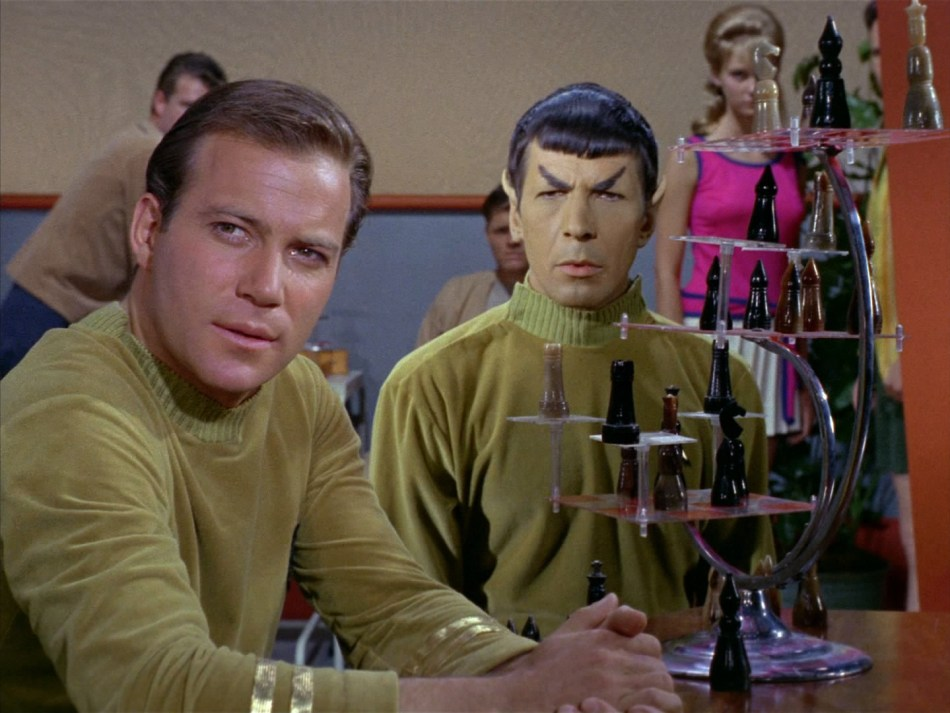Where No Man Kirk Spock chess