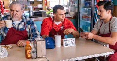 Chris, Pops and Erik in Gentefied season 1 on Netflix
