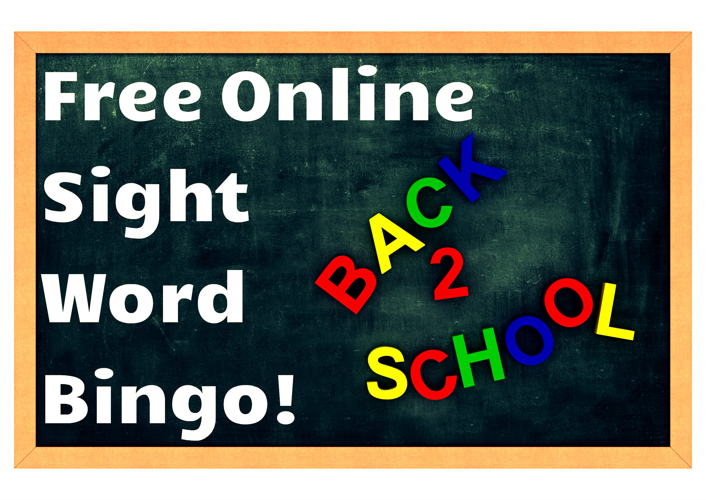 Online Sight Word Bingo