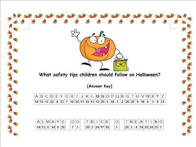 picture regarding Free Printable Cryptograms With Answers known as halloween cryptogram 1 solutions